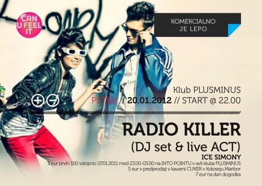 radio killer flyer